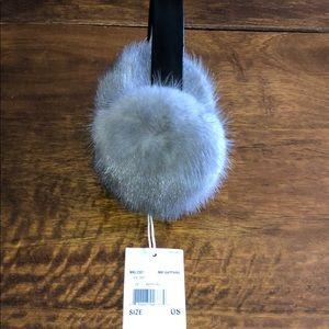 NWT Michael Kors Fur and Leather Earmuffs